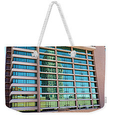 Weekender Tote Bag featuring the photograph Salt Lake City Architecture Reflection by Ely Arsha
