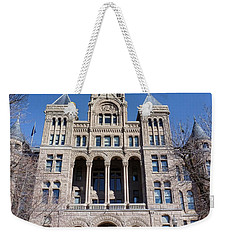 Weekender Tote Bag featuring the photograph Salt Lake City - City Hall - 2 by Ely Arsha
