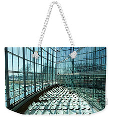 Weekender Tote Bag featuring the photograph Salt Lake City Library by Ely Arsha