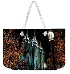 Salt Lake City Mormon Temple Christmas Lights Weekender Tote Bag
