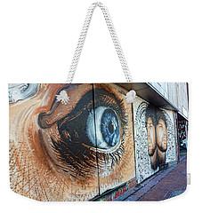 Weekender Tote Bag featuring the photograph Salt Lake City - Mural 1 by Ely Arsha