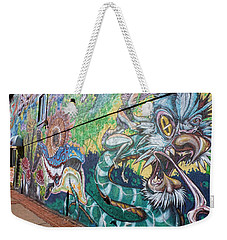 Weekender Tote Bag featuring the photograph Salt Lake City - Mural 2 by Ely Arsha