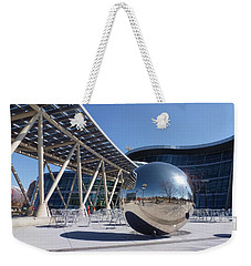 Weekender Tote Bag featuring the photograph Salt Lake City Police Station - 1 by Ely Arsha