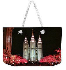 Weekender Tote Bag featuring the photograph Salt Lake Temple - 1 by Ely Arsha