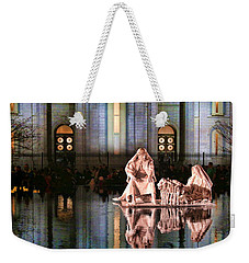 Weekender Tote Bag featuring the photograph Salt Lake Temple - 2 by Ely Arsha