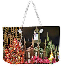 Weekender Tote Bag featuring the photograph Salt Lake Temple - 3 by Ely Arsha