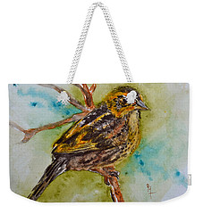 Saltmarsh Sparrow Weekender Tote Bag