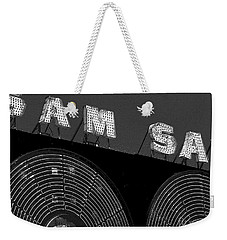 Sam The Record Man At Night Weekender Tote Bag by Nina Silver