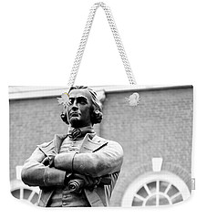 Samuel Adams Statue State House Boston Ma Black And White Weekender Tote Bag
