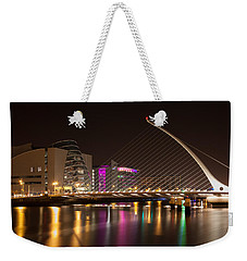 Samuel Beckett Bridge In Dublin City Weekender Tote Bag by Semmick Photo