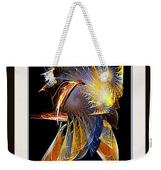 Weekender Tote Bag featuring the painting Samurai by Rafael Salazar