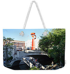 Weekender Tote Bag featuring the painting San Antonio River 01 by Shawn Marlow