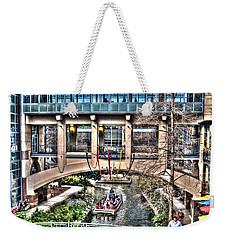 Weekender Tote Bag featuring the photograph San Antonio Riverwalk by Deborah Klubertanz