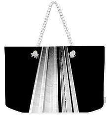 San Antonio Tower Of The Americas Hemisfair Park Space Needle Tower Restaurant Black And White Weekender Tote Bag