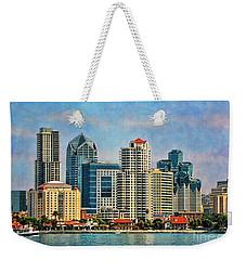 San Diego Skyline Weekender Tote Bag by Peggy Hughes