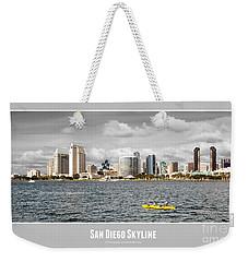 San Diego Skyline - Poster Style Weekender Tote Bag