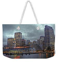 San Francisco Port All Lit Up Weekender Tote Bag