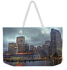 San Francisco Port All Lit Up Weekender Tote Bag