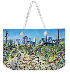 San Francisco And Flowery Vagabond Path Of Yesterday Weekender Tote Bag by Asha Carolyn Young