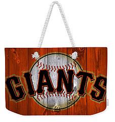 San Francisco Giants Barn Door Weekender Tote Bag by Dan Sproul