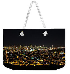 Weekender Tote Bag featuring the photograph San Francisco Skyline by Dave Files