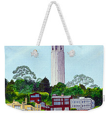 San Francisco's Coit Tower Weekender Tote Bag by Mike Robles