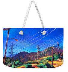 San Gabriel Power Weekender Tote Bag by Bonnie Lambert