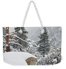 Weekender Tote Bag featuring the photograph San Jacinto Winter Wilderness by Kyle Hanson