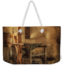 Weekender Tote Bag featuring the photograph San Jose Mission Mill by Priscilla Burgers
