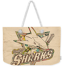 San Jose Sharks Vintage Poster Weekender Tote Bag