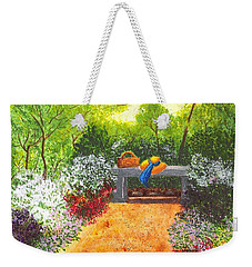 Weekender Tote Bag featuring the painting Sanctuary by Patricia Griffin Brett