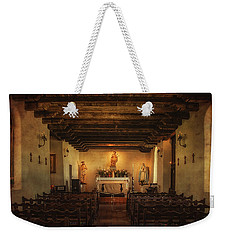 Weekender Tote Bag featuring the photograph Sanctuary by Priscilla Burgers