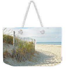Weekender Tote Bag featuring the photograph Sand Beach Ocean And Dunes by Brooke T Ryan