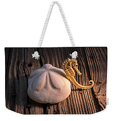 Sand Dollar And Seahorse Weekender Tote Bag