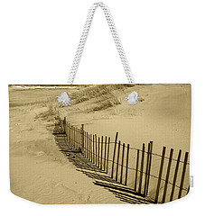 Sand Dunes And Fence Weekender Tote Bag