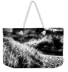 Weekender Tote Bag featuring the photograph Sand In Ma Shoes by Robert McCubbin