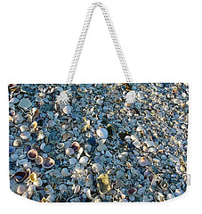 Weekender Tote Bag featuring the photograph Sand Key Shells by David Nicholls