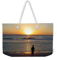 Weekender Tote Bag featuring the photograph Sand Key Sunset by David Nicholls