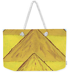 Weekender Tote Bag featuring the painting Sand Mountains by Tracey Williams