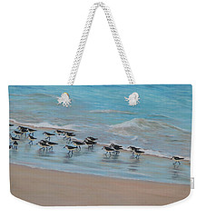 Sand Piper On Parade Weekender Tote Bag