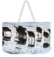 Sand Pipers Reflected Weekender Tote Bag