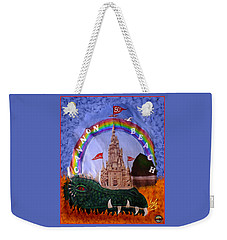 Weekender Tote Bag featuring the photograph Sandcastle Shirt by Wendy McKennon