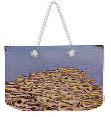 Weekender Tote Bag featuring the photograph Sandform At Sand Hook by Gary Slawsky