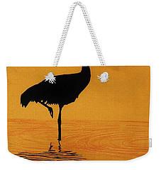 Sandhill - Crane - Sunset Weekender Tote Bag