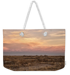 Sandhill Cranes At Sunset Weekender Tote Bag