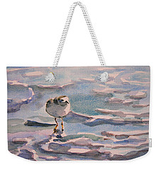 Sandpiper And Seafoam 3-8-15 Weekender Tote Bag