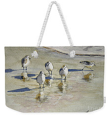 Sandpipers 2 Watercolor 5-13-12 Julianne Felton Weekender Tote Bag
