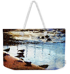 Sandpipers At The Shore Weekender Tote Bag by Janine Riley