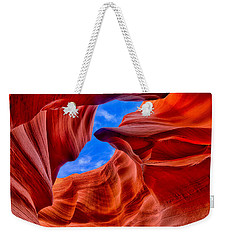 Weekender Tote Bag featuring the photograph Sandstone Curves In Antelope Canyon by Greg Norrell
