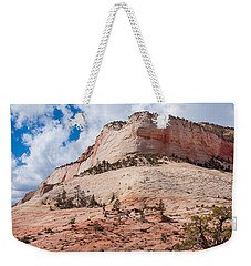 Weekender Tote Bag featuring the photograph Sandstone Mountain by John M Bailey